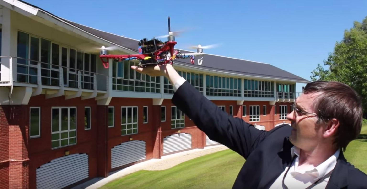 Lime Microsystems demonstrates its field programmable RF chip used in a basestationon a drone