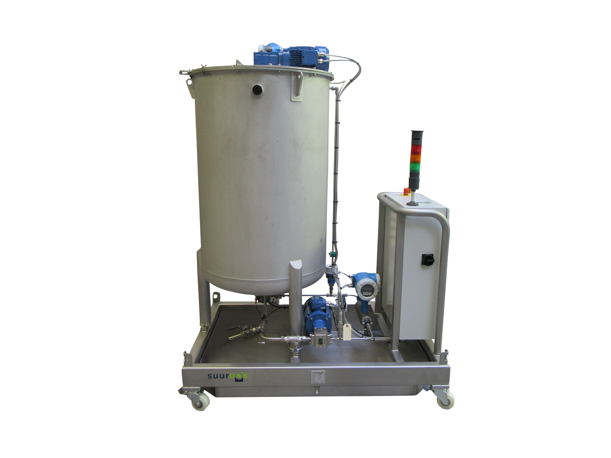 Mobile suurDOS® with tank and control for dosing viscosities from 150-1500 mPas at relatively high pressure.