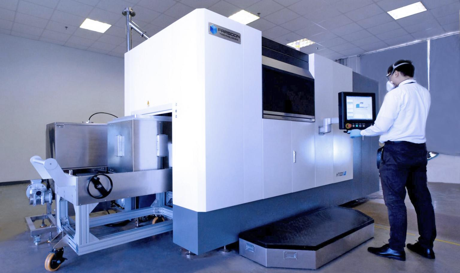 HT1001P with Continuoys Additive Manufacturing capacity. Operating at Farsoon headquarter in Changsha