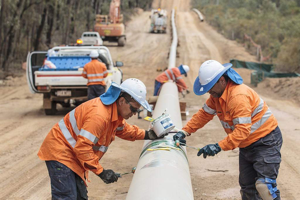 Protal 7200™ liquid epoxy coating applied to pipeline field joint