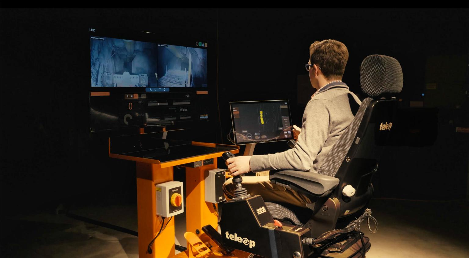 TeleOp Control Station: Control heavy machinery in a safe area on surface or underground, regardless of distance.