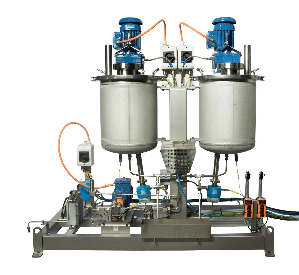R&D suurDOS® dosing unit for an extrusion process with a product subject to degradation (aging).