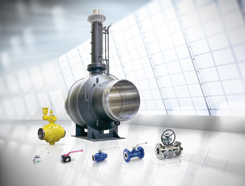 Range of Böhmer ball valves