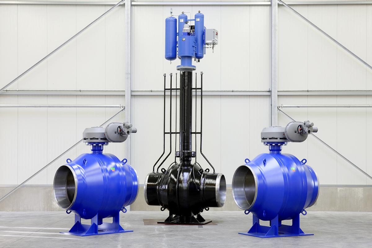 Böhmer Ball valves for ground and underground installation