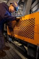 Heavy duty conveyor guards reduce the risk of accident and injury.