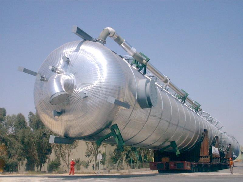 Vessel (splitter) of an ethylene, polyethylene production plant in Saudi Arabia (copyright Bilfal Heavy Industries Ltd)