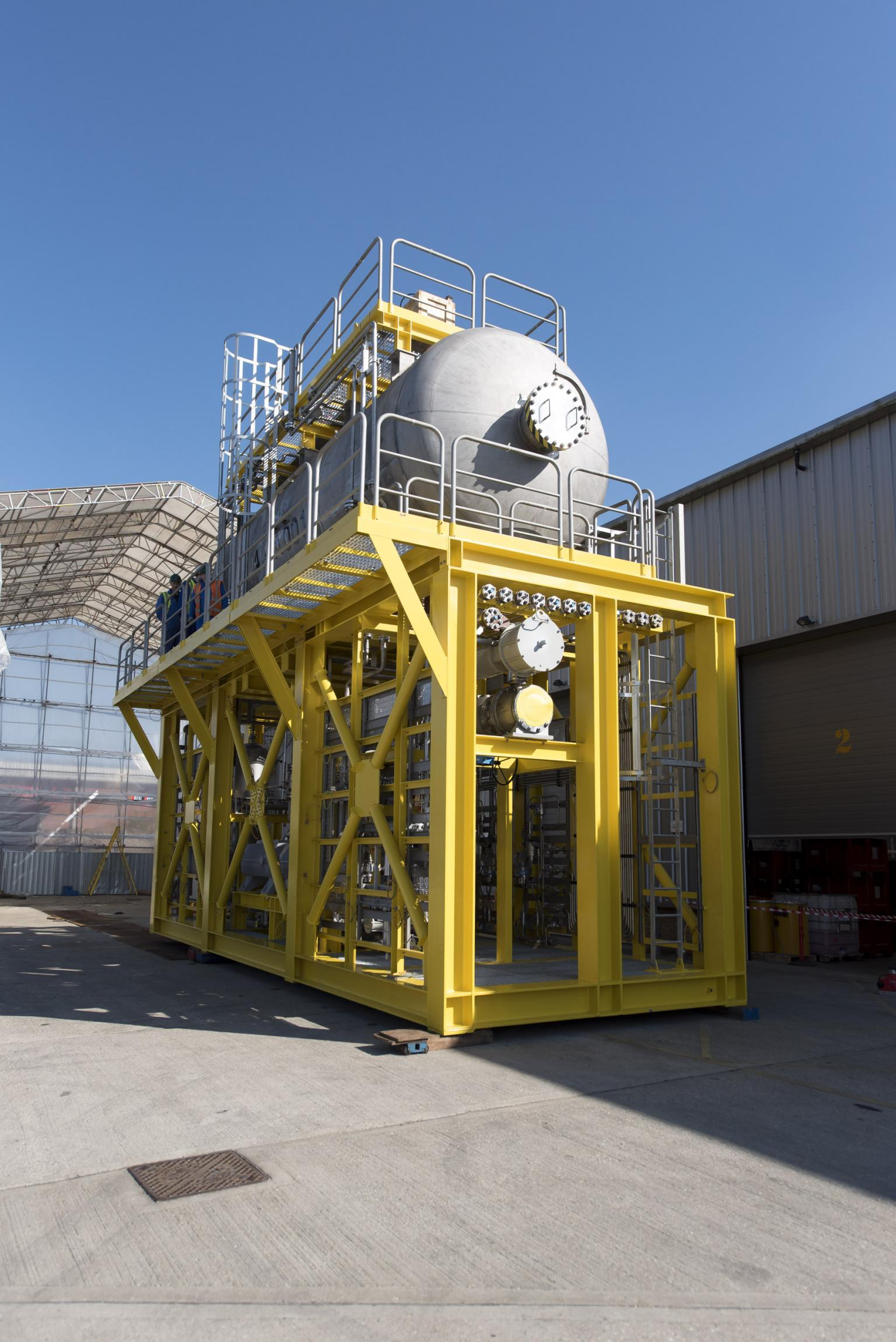 The methanol injection package required storage of 60,000l