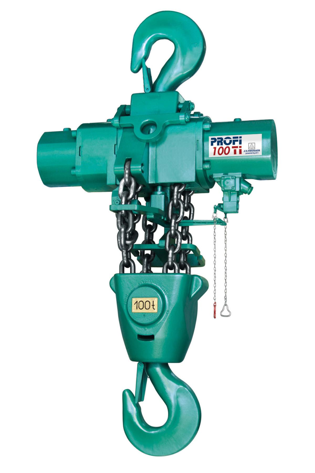 Ti air hoist, part a series of hoists offering lift capacities from 250kg up to 100 tonnes