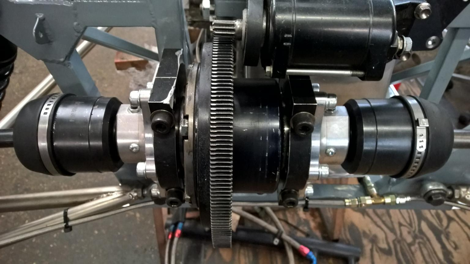 Jedi differential with two CV's each equipped with Lee Spring comical compression spring