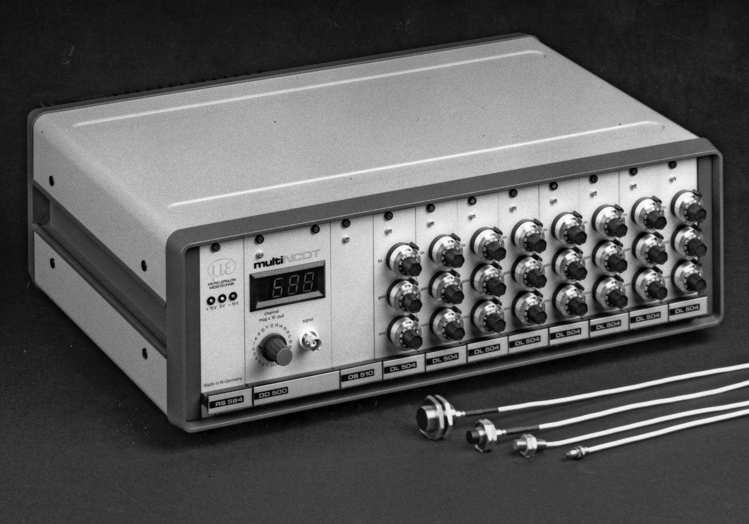 The first multi-channel eddy current measurement system (500 series), circa mid-1970s