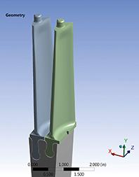 a 3D CAD model of the blade was created by Sulzer to perform the finitie element analysis