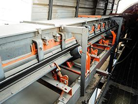 The project included upgraded transfer points to eliminate belt sag and improve sealing