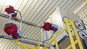 IPD systems are used in environments where flammable dust is created