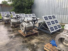 Rotork's IQ electric actuators were used in a solar-powered automation project