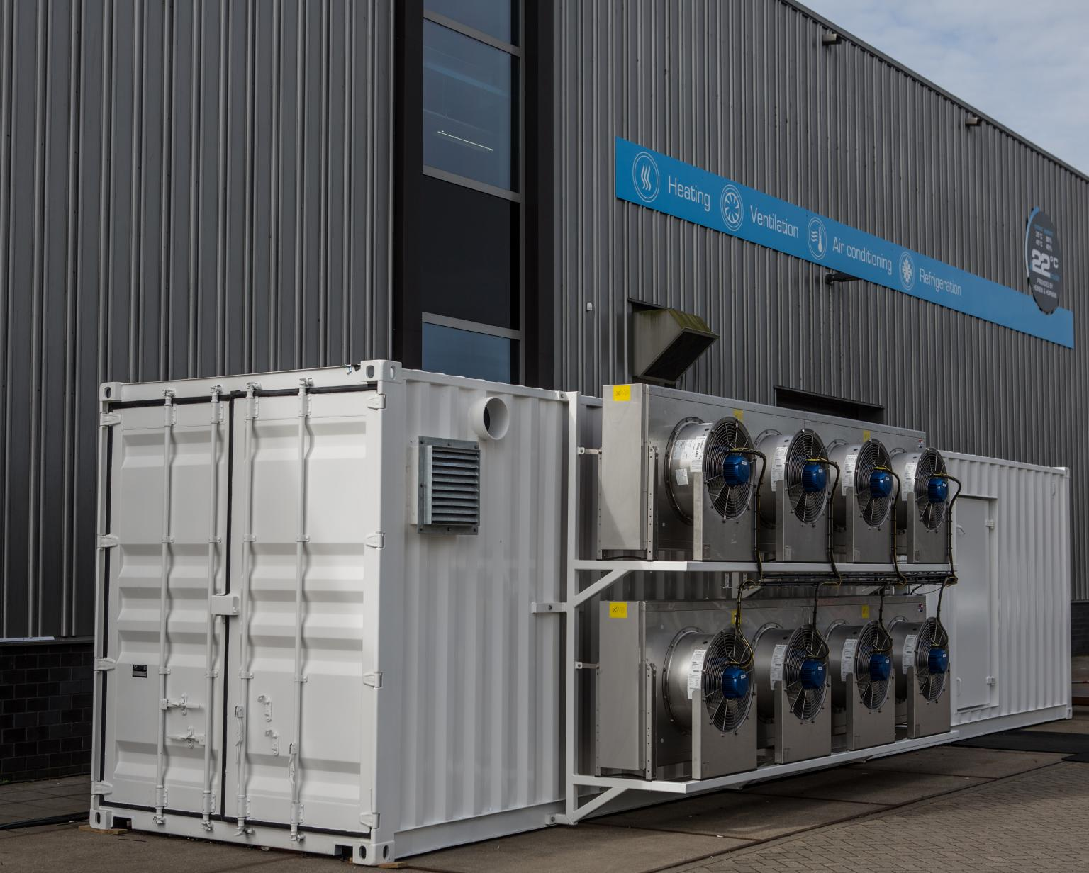 Each containerised fan room is custom-designed to meet the specific user's requirements