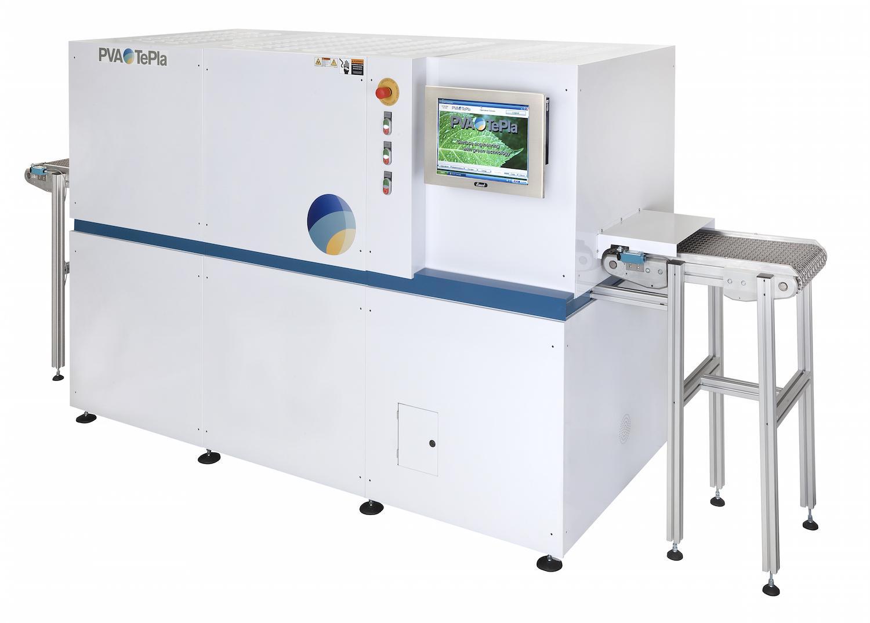One of PVA TePlas' inline plasma treatment system machines