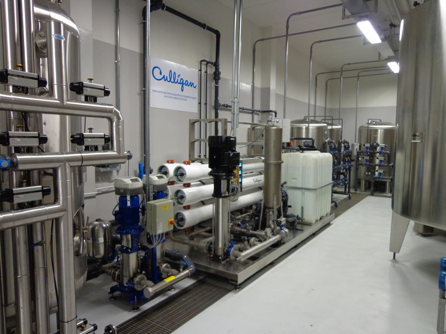 A reverse osmosis unit is one of the technologies in a bespoke solution for improving water quality for CHP