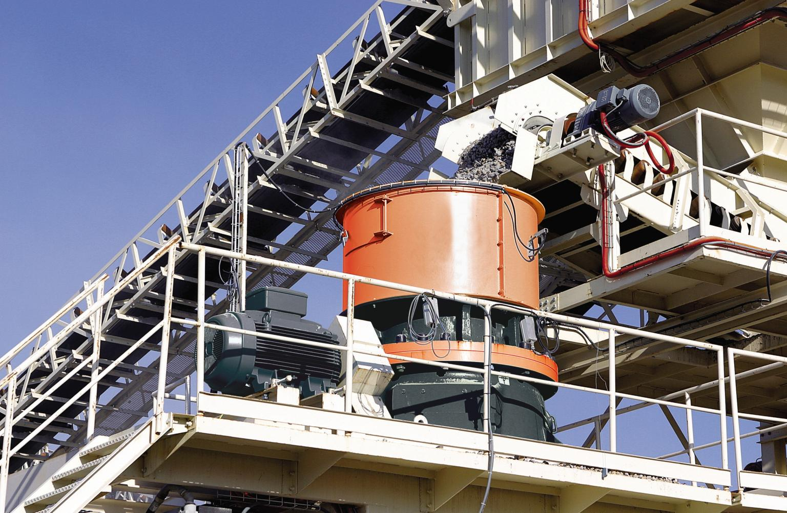Sandvik dust suppression systems are used in many materials handling situations