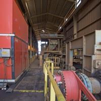 Hydraulic direct drive powers mine conveyor
