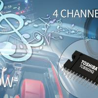 Four-channel car audio power amplifier IC
