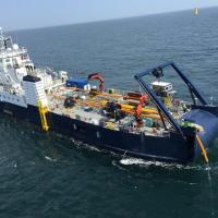 Upgraded cable-laying vessel