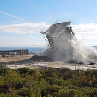 Explosives project brings structures to the ground