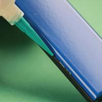 Two part, thermally stable epoxy adhesive