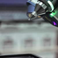 Non-contact 3D scanning arm investment
