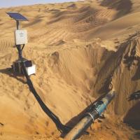 Remote corrosion monitor for pipelines