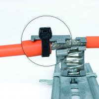 New EMC shield clamps with integrated strain relief