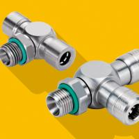 Hygienic stainless steel push-in connectors
