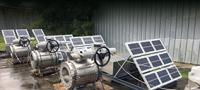 Solar power solution helps control flow of water gathering pipelines