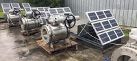 Using electric actuators in a solar-powered automation project